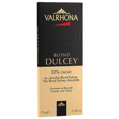 VALRHONA Weiße Schokolade Blond Dulcey 32% 70 g