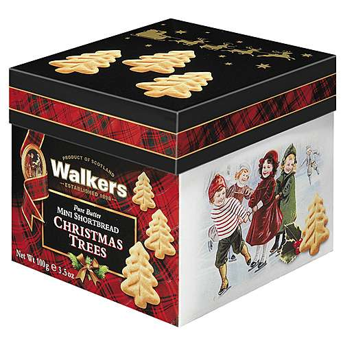 Walkers Mini Shortbread Christmas Trees Geschenkbox 100 g
