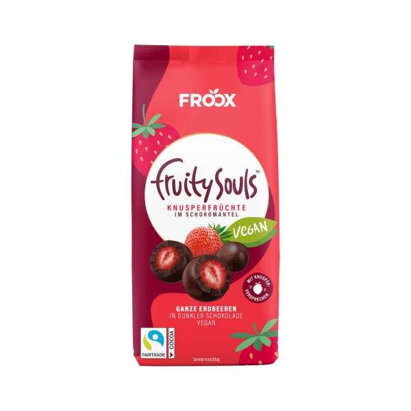 FruitySouls Ganze Erdbeeren in dunkler Schokolade 100g