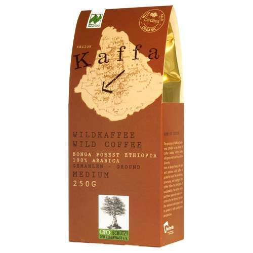 Kaffa Bio Wildkaffee Medium gemahlen 250 g