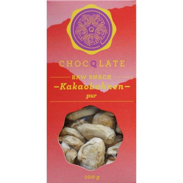 CHOCQLATE Raw Snack Bio Kakaobohnen pur 100 g