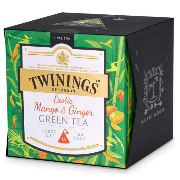 Twinings Platinum Mango & Ginger Green Tea 15 Teebeutel