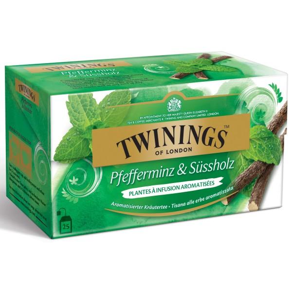 Twinings Pfefferminz & Süssholz Tee 25 Teebeutel