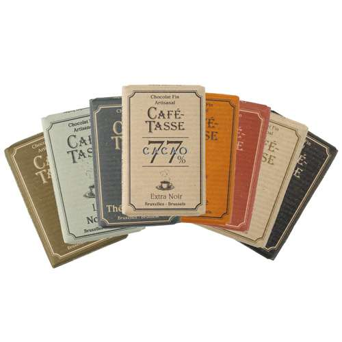 Café-Tasse Mini-Täfelchen 8 Sorten gemischt Display 1,5 kg