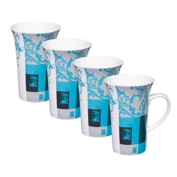 """4 Stück Becher """"Blaues Muster"""""""
