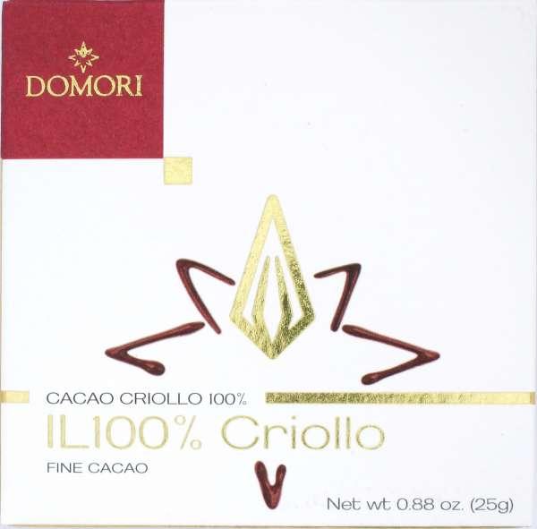 Domori Schokolade IL 100 % 25 g