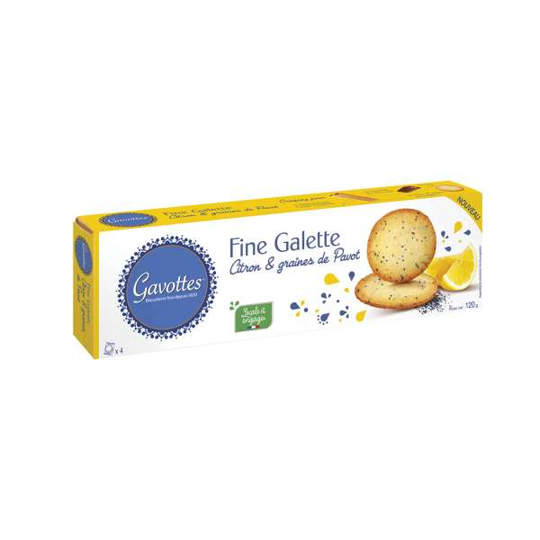 Gavottes Kekse mit Mohn und Zitrone 120g