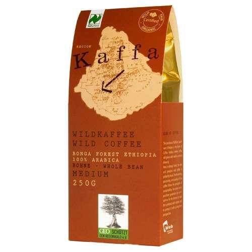 Kaffa Bio Wildkaffee Medium Bohne 250 g