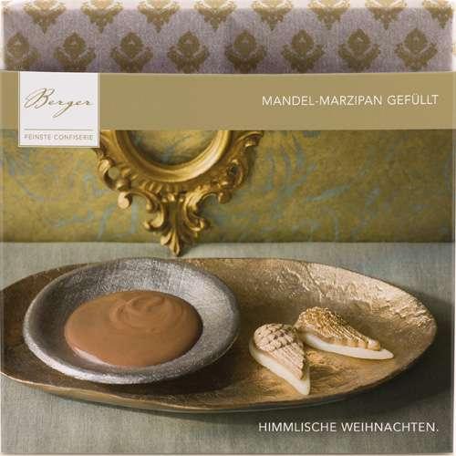 Berger Schokolade HIMMLISCHE WEIHNACHTEN Mandel-Marzipan gefüllt 100 g
