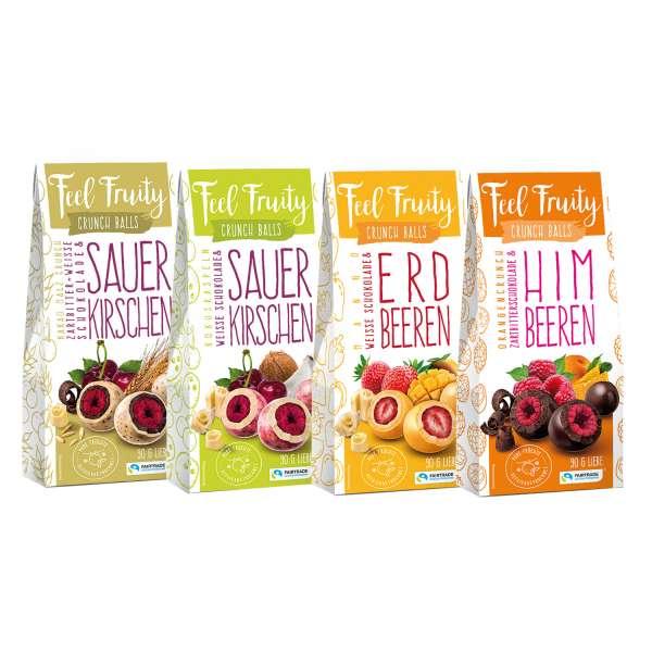 Feel Fruity Crunch Balls schokolierte Früchte 4er Set