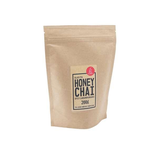 BIO Honig-Chai Spicy Kardamom, schwarzer Tee 200 g Zip-Beutel