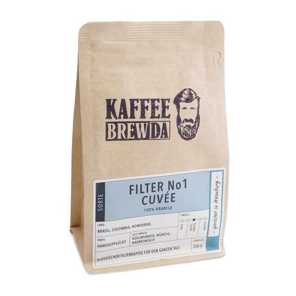 KaffeeBREWDA Filter No 1 Cuvée 250 g gemahlen