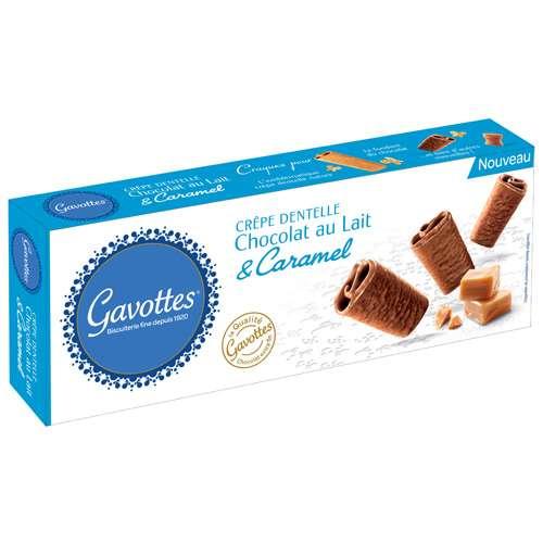 Gavottes Knusper-Plätzchen Karamell mit Milchschokolade 90 g
