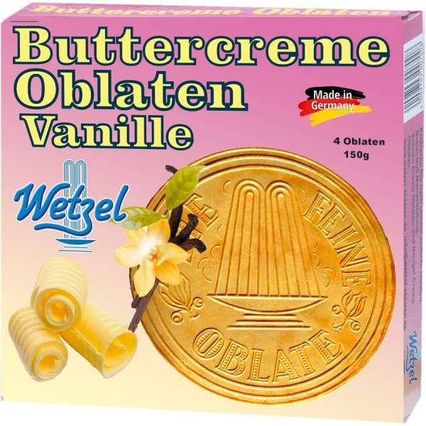 Wetzel Buttercreme Oblaten Vanille 150 g