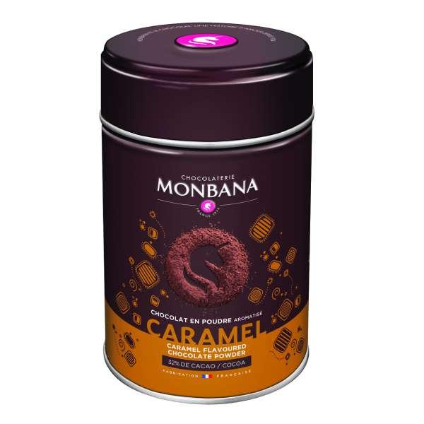 Monbana Trinkschokolade Caramel Dose 250 g