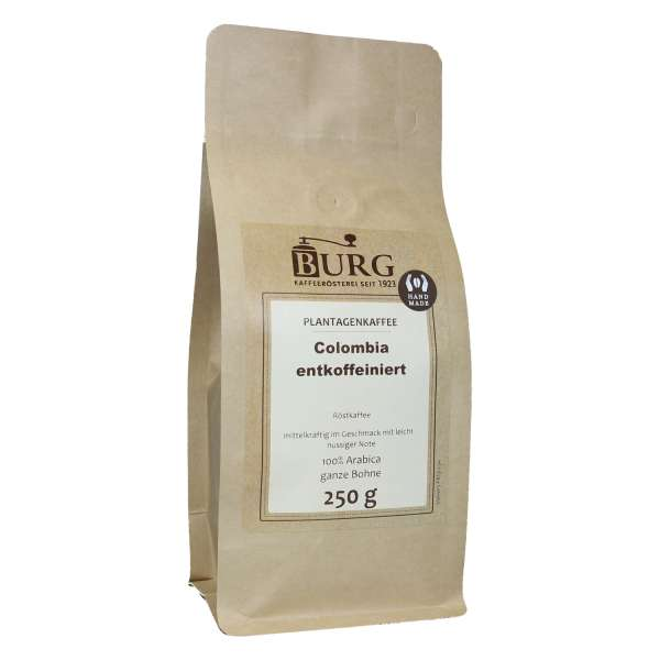 BURG Colombia Excelso Kaffee entkoffeiniert