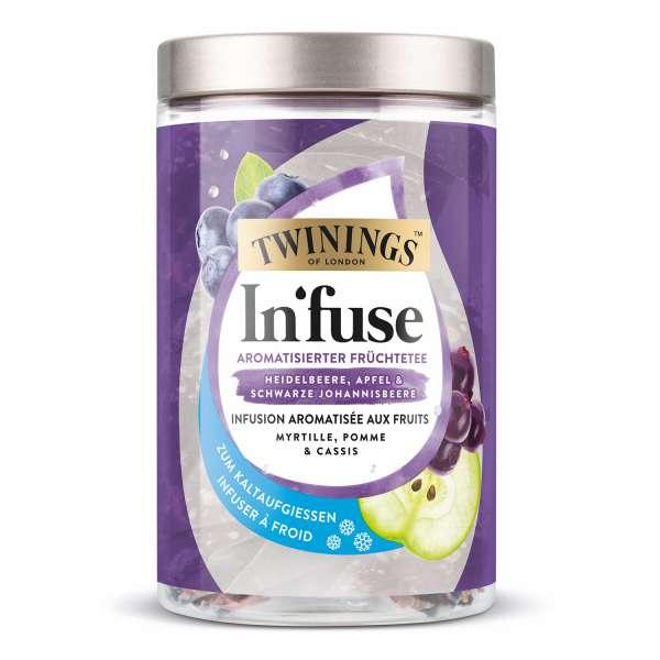 Twinings In'fuse Heidelbeere, Apfel & Johannisbeere 12 x 2,5g Beutel zum Kaltaufgießen