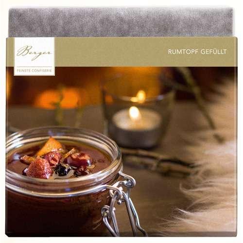 Berger Schokolade Edelbitter Rumtopf gefüllt 100 g
