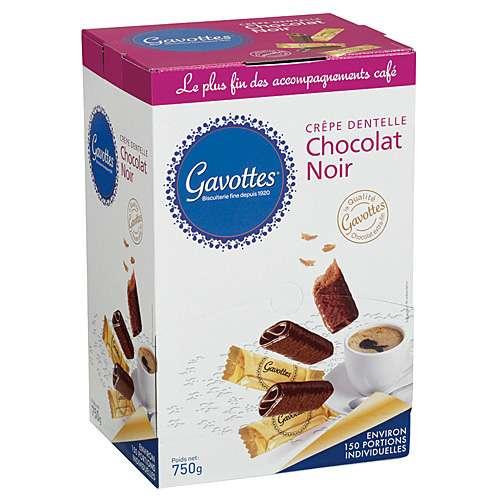 Gavottes Waffelröllchen in Zartbitterschokolade 750 g mit 150 Stück