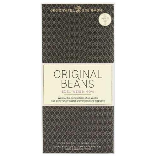 Original Beans Bio Schokolade Edel Weiss 40 % 70 g