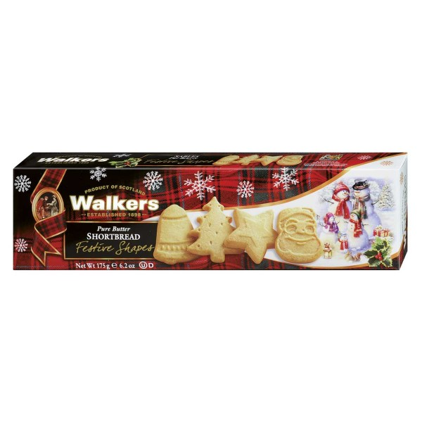 Walkers Festive Shapes Shortbread 175 g