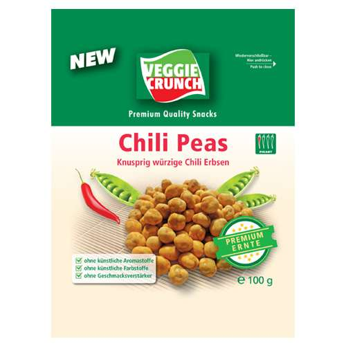 VeggieCrunch Snack Chili Erbsen 100 g