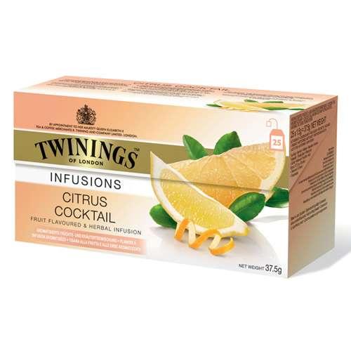 Twinings Früchtetee Citrus Cocktail 25 Teebeutel