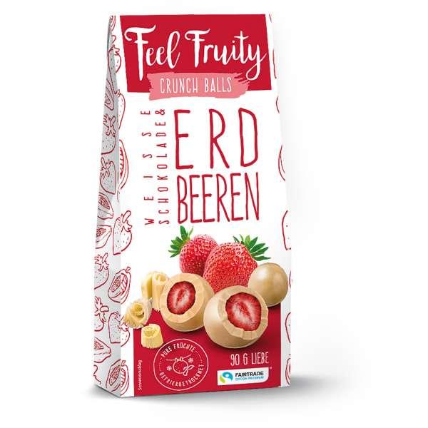 Feel Fruity Weisse Schokolade & Erdbeere 90 g