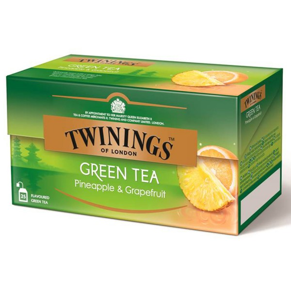 Twinings Grüner Tee Pineapple & Grapefruit 25 Teebeutel
