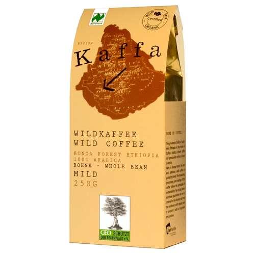 Kaffa Bio Wildkaffee Mild Bohne 250 g