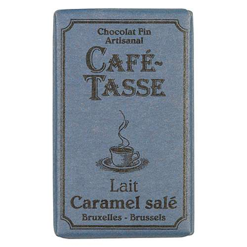 Café-Tasse Vollmilchschokolade Karamel & Salz 10 Täfelchen á 9 g