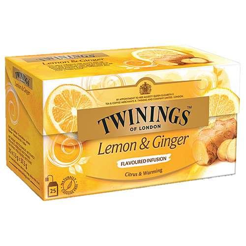 Twinings Früchtetee Zitrone & Ingwer 25 Teebeutel