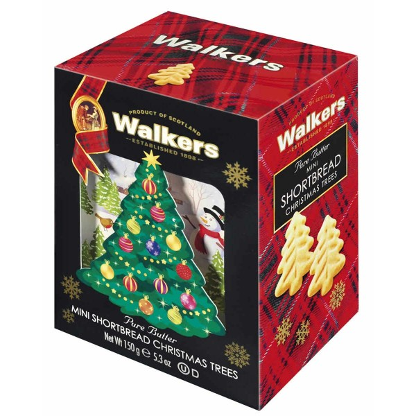 Walkers Mini Shortbread Christmas Trees Geschenkbox 150 g