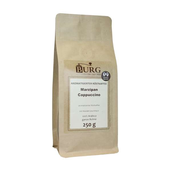 BURG Marzipan Cappuccino Kaffee aromatisiert