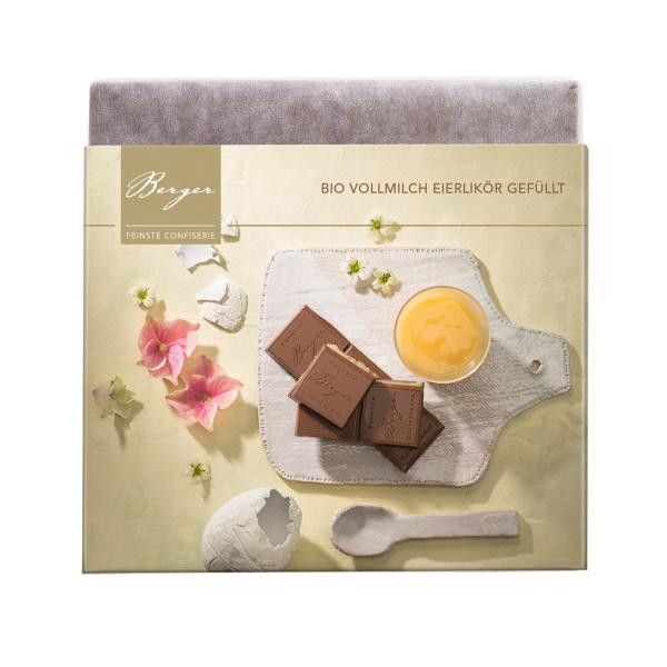 Berger Schokolade BIO VOLLMILCH Eierlikör gefüllt 100g
