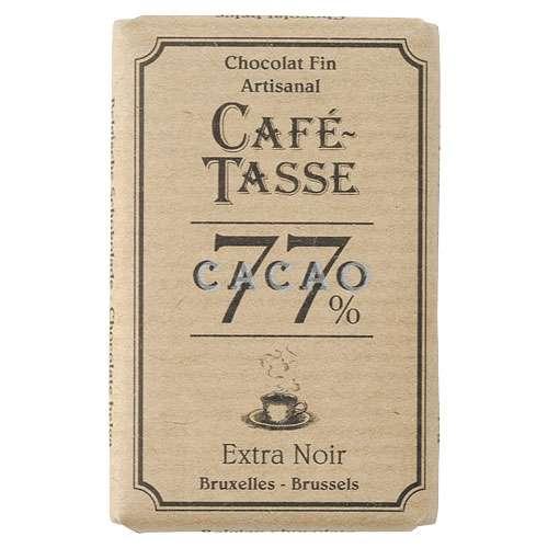 Café-Tasse Zartbitterschokolade 77% Kakao 10 Täfelchen á 9 g