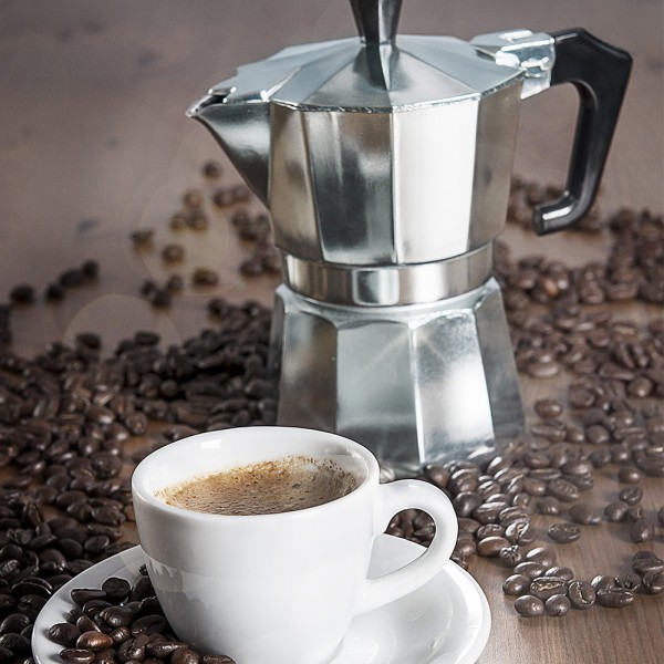 Kaffeezubereitung-Espressokocher