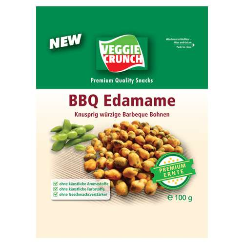VeggieCrunch Snack Barbeque Bohnen 100 g
