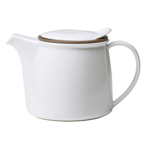KINTO Brim Teekanne mit Sieb weiß 0,75 L