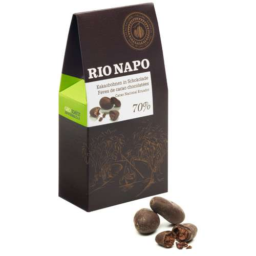 Rio Napo Bio Kakaobohnen in Schokolade 80 g