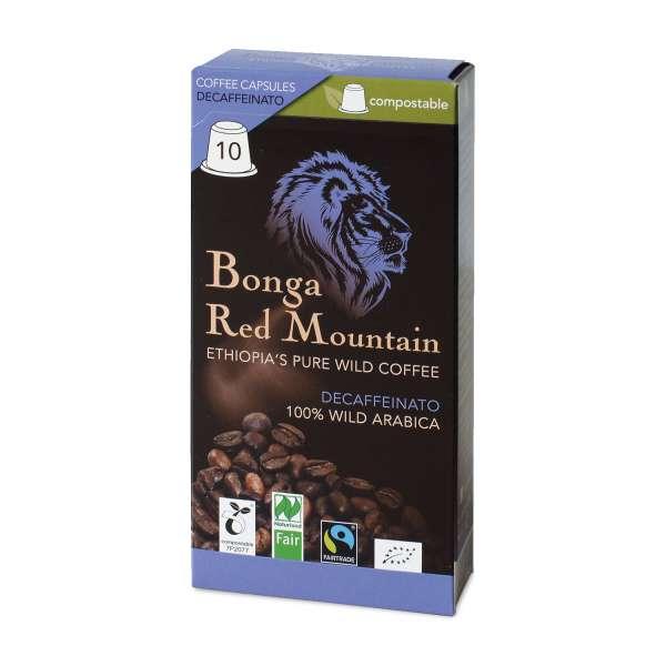 Bonga Red Mountain Decaffeinato kompostierbare Kapseln 55 g