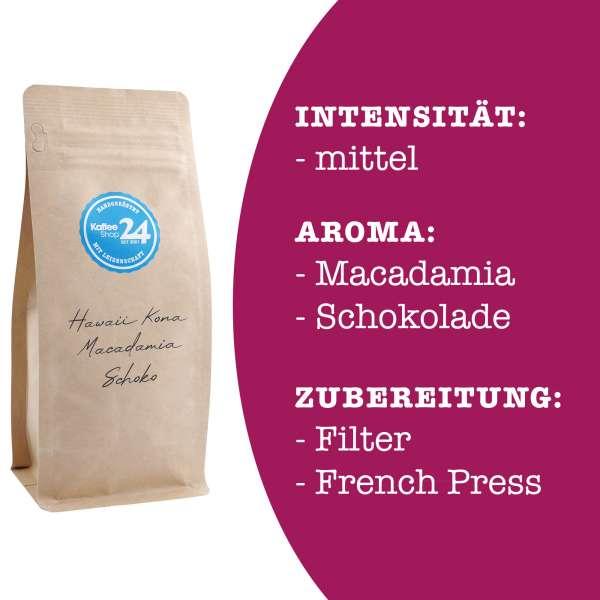 Hawaii Kona - Macadamia - Schoko Kaffee