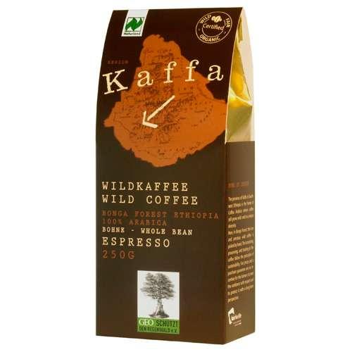 Kaffa Bio Wildkaffee Espresso Bohne 250 g
