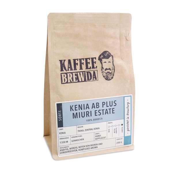 KaffeeBREWDA Kenia AB Plus Miuri Estate 250 g Bohne