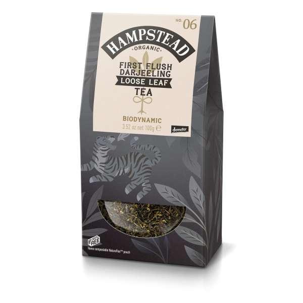 HAMPSTEAD TEA Bio First Flush Darjeeling loser Tee 100 g