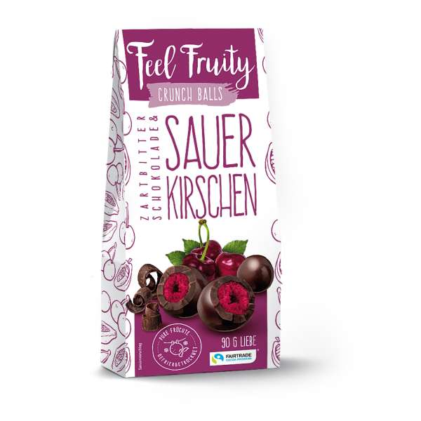 Feel Fruity Zartbitterschokolade & Sauerkirsche 90 g