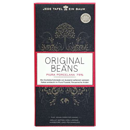 Original Beans Bio Schokolade Piura Porcelana 75% 70 g