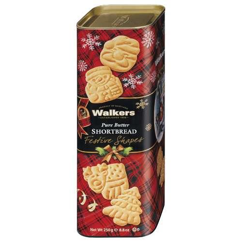 Walkers Shortbread Festive Shapes Tube 250 g