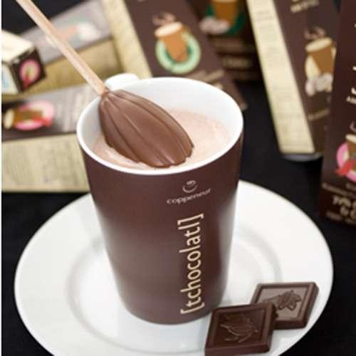 Coppeneur Trinkschokolade Bio am Stiel Haselnuss-Nougat