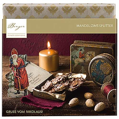 Berger Schokolade Nikolaus Mandel-Zimt-Splitter 90 g